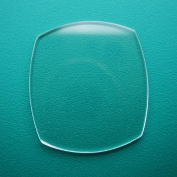 Generic Cartier Mineral Flat TV Watch Glass 19.50mm x 19.50mm - 0.8mm Thickness
